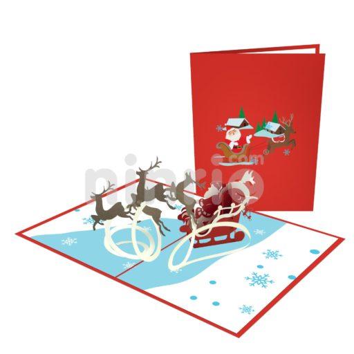 Santa Claus Card – Christmas 3D Popup Card