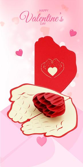 valentine card, valentine day 3d card